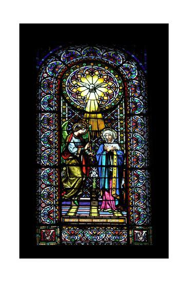 Annunciation. Stained Glass Window. Montserrat Abbey. Catalonia. Spain--Giclee Print