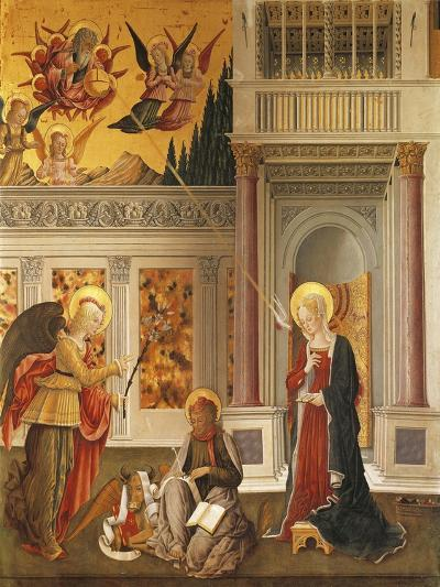 Annunciation to Mary and Saint Luke the Evangelist--Giclee Print