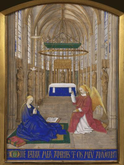 Annunciation To Mary-Jean Fouquet-Giclee Print