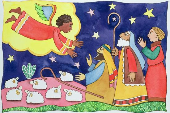 Annunciation to the Shepherds-Cathy Baxter-Giclee Print