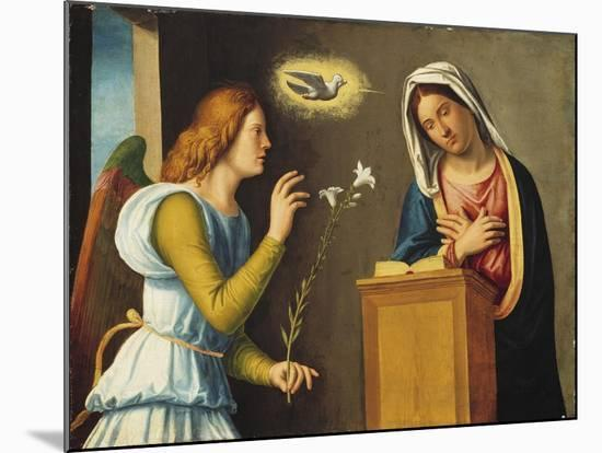 Annunciation to the Virgin, 1500/05 (Paint on Wood Panel)-Giovanni Battista Cima Da Conegliano-Mounted Giclee Print