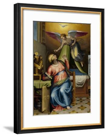 Annunciation to the Virgin-Marcello Venusti-Framed Art Print