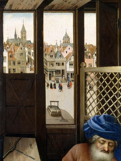 Annunciation Triptych (Merode Altarpiece), c.1427-32-Master of Flemalle-Giclee Print