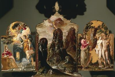 Annunciation, Vision of Mount Sinai, God Warning Adam and Eve--Giclee Print