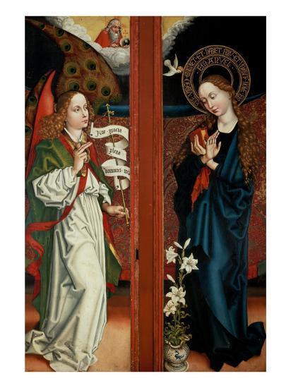 Annunciation-Martin Schongauer-Giclee Print