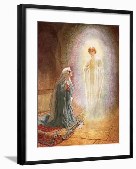 Annunciation-William Brassey Hole-Framed Giclee Print