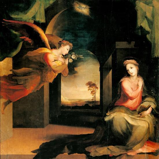 Annunciation-Domenico Beccafumi-Art Print