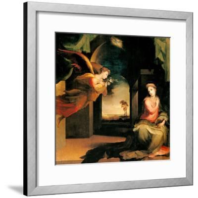 Annunciation-Domenico Beccafumi-Framed Art Print