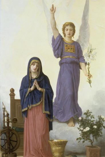 Annunciation-William Adolphe Bouguereau-Giclee Print