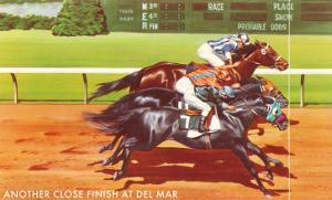 Another Close Finish at Del Mar, California