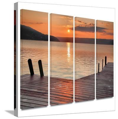 Another Kekua Sunrise 4 piece gallery-wrapped canvas-Steve Ainsworth-Gallery Wrapped Canvas Set