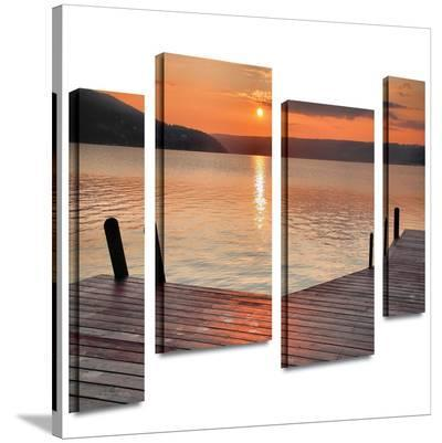 Another Kekua Sunrise 4 piece gallery-wrapped canvas-Steve Ainsworth-Gallery Wrapped Canvas