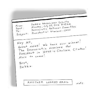 Another Leaked Email - Cartoon-Kim Warp-Premium Giclee Print