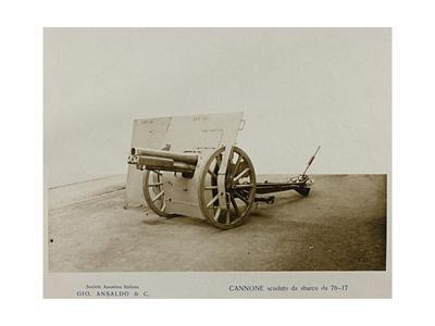 World War I: Cannone Scudato Da Sbarco Da 76-17