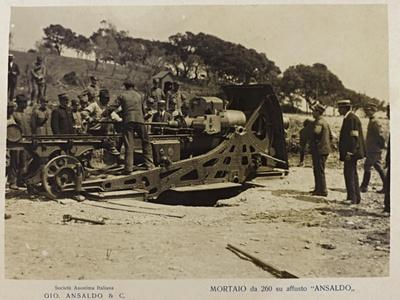 World War I: Mortaio Su Affusto Ansaldo