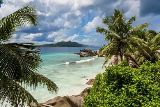 Anse Severe beach, La Digue, Republic of Seychelles, Indian Ocean.-Michael DeFreitas-Photographic Print
