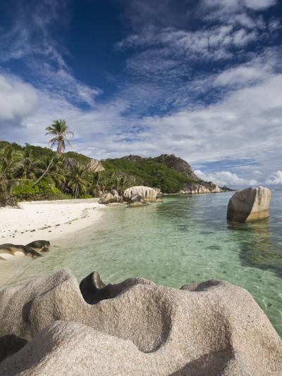 Anse Source D'Argent Beach, L'Union Estate Plantation, La Digue Island, Seychelles-Walter Bibikow-Photographic Print