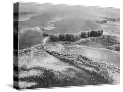 "Aerial View Of ""Jupiter Terrace-Fountain Geyser Pool Yellowstone NP"" Wyoming 1933-1942"