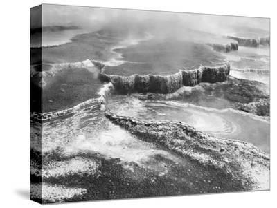 Aerial view of Jupiter Terrace, Yellowstone National Park, Wyoming ca. 1941-1942