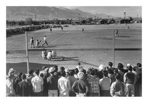 Baseball Game by Ansel Adams