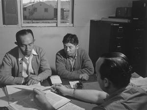 Bunkichi Hayashi, project attorney, Manzanar Relocation Center, 1943 by Ansel Adams