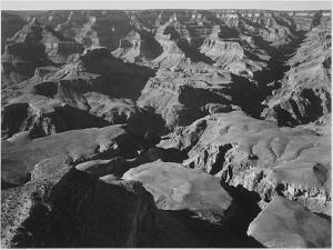 "Canyon And Ravine ""Grand Canyon National Park"" Arizona 1933-1942 by Ansel Adams"