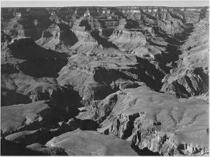 "Canyon And Ravine ""Grand Canyon National Park"" Arizona 1933-1942 by Ansel Adams"