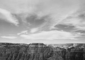 "Canyon Edge Low Horizon Clouded Sky ""Grand Canyon National Park"" Arizona. 1933-1942 by Ansel Adams"