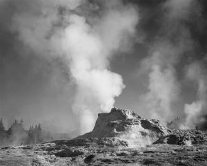 Castle Geyser Cove, Yellowstone National Park, Wyoming, ca. 1941-1942 by Ansel Adams