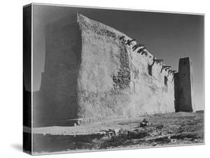 Church Acoma Pueblo. NHL New Mexico, Mision De San Estevan Del Rey Acoma 1933-1942 by Ansel Adams