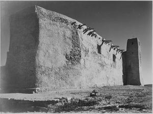 Church Acoma Pueblo. NHL New Mexico, Mision De San Estevan Del Rey Acoma 1933-1942 by Ansel Adams