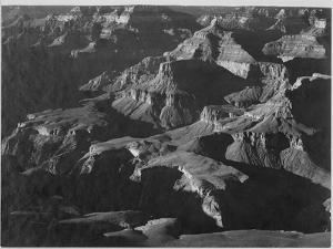 """Close In View Down Toward Peak Formations """"Grand Canyon National Park"""" Arizona. 1933-1942 by Ansel Adams"""