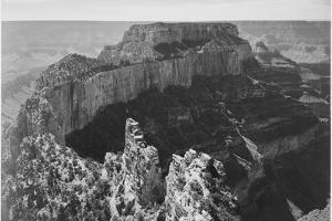 "Close-In View Of Curved Cliff ""Grand Canyon National Park"" Arizona by Ansel Adams"