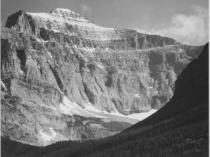 """Close In View Of Mt Side """"From Going-To-The-Sun Chalet Glacier National Park"""" Montana. 1933-1942 by Ansel Adams"""