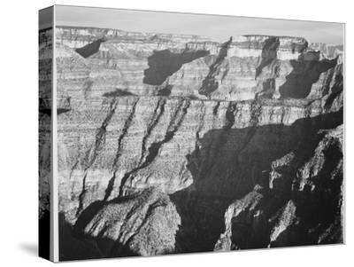 "Closer View Of Cliff Formation ""Grand Canyon From North Rim 1941"" Arizona. 1941"