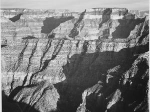 """Closer View Of Cliff Formation """"Grand Canyon From North Rim 1941"""" Arizona. 1941 by Ansel Adams"""