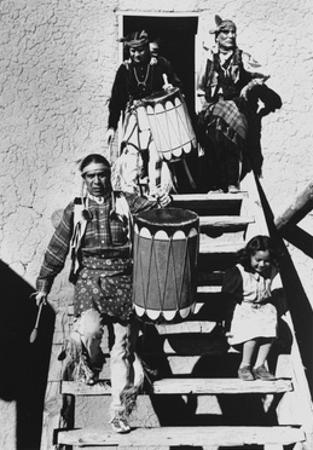 Dance, San Ildefonso Pueblo, New Mexico, 1942