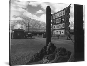 Entrance to Manzanar Relocation Center by Ansel Adams