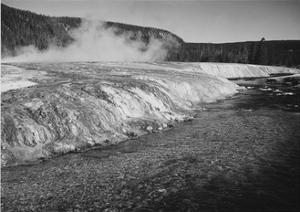 Firehole River Yellowstone National Park Wyoming, Geology, Geological by Ansel Adams