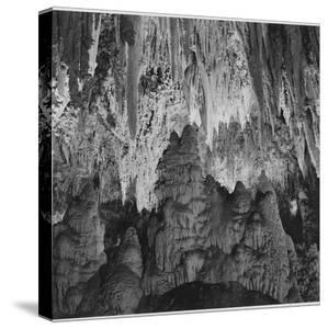 Formations Along Wall Of Big Room, Crystal Spring Home Carlsbad Caverns NP New Mexico. 1933-1942 by Ansel Adams