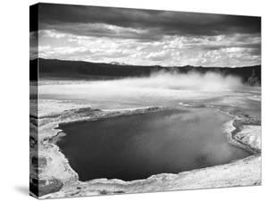 Fountain Geyser Pool, Yellowstone National Park, Wyoming, ca. 1941-1942 by Ansel Adams