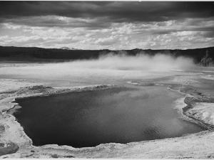 Fountain Geyser Pool Yellowstone National Park Wyoming, Geology, Geological 1933-1942 by Ansel Adams