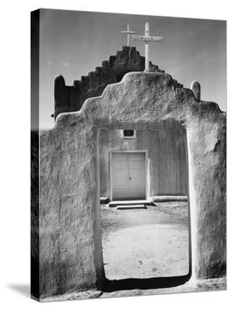 Front view of entrance, Church, Taos Pueblo National Historic Landmark, New Mexico, 1942