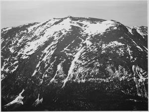 "Full View Of Barren Mountain Side With Snow ""In Rocky Mountain National Park"" Colorado 1933-1942 by Ansel Adams"