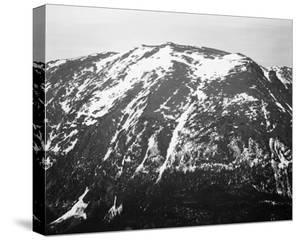 Full view of barren mountain side with snow, in Rocky Mountain National Park, Colorado, ca. 1941-19 by Ansel Adams