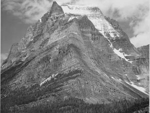 "Full View Of Mountain ""Going-To-The-Sun Mountain Glacier National Park"" Montana. 1933-1942 by Ansel Adams"