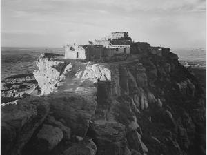 "Full View Of The City On Top Of Mountain ""Walpi Arizona 1941"". 1941 by Ansel Adams"