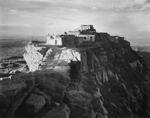 Full view of the city on top of mountain, Walpi, Arizona, 1941 by Ansel Adams