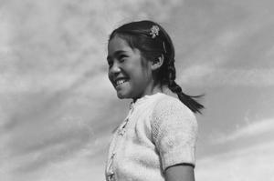 Girl Smiling by Ansel Adams