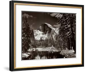 Half Dome, Merced River, Winter by Ansel Adams